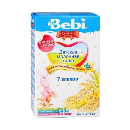 Молочная каша Bebi Premium 7 злаков, 200 г