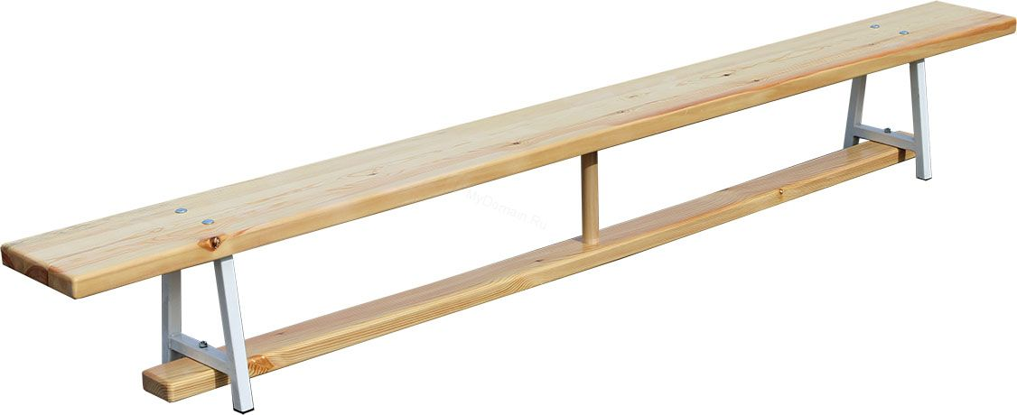 Скамья гимнастическая 2,4 м на металлических ножках