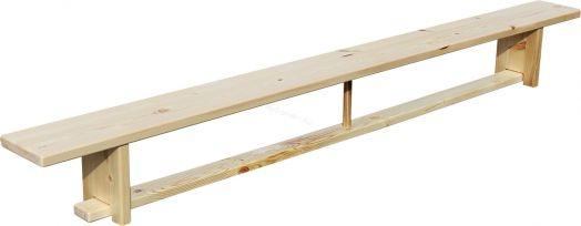 Скамья гимнастическая ZSO 2,8 м на деревянных ножках