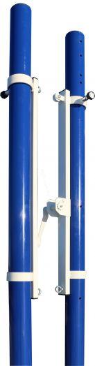 Стойки волейбольные ZSO универсальные со стаканами, крышками и механизмом натяжения троса