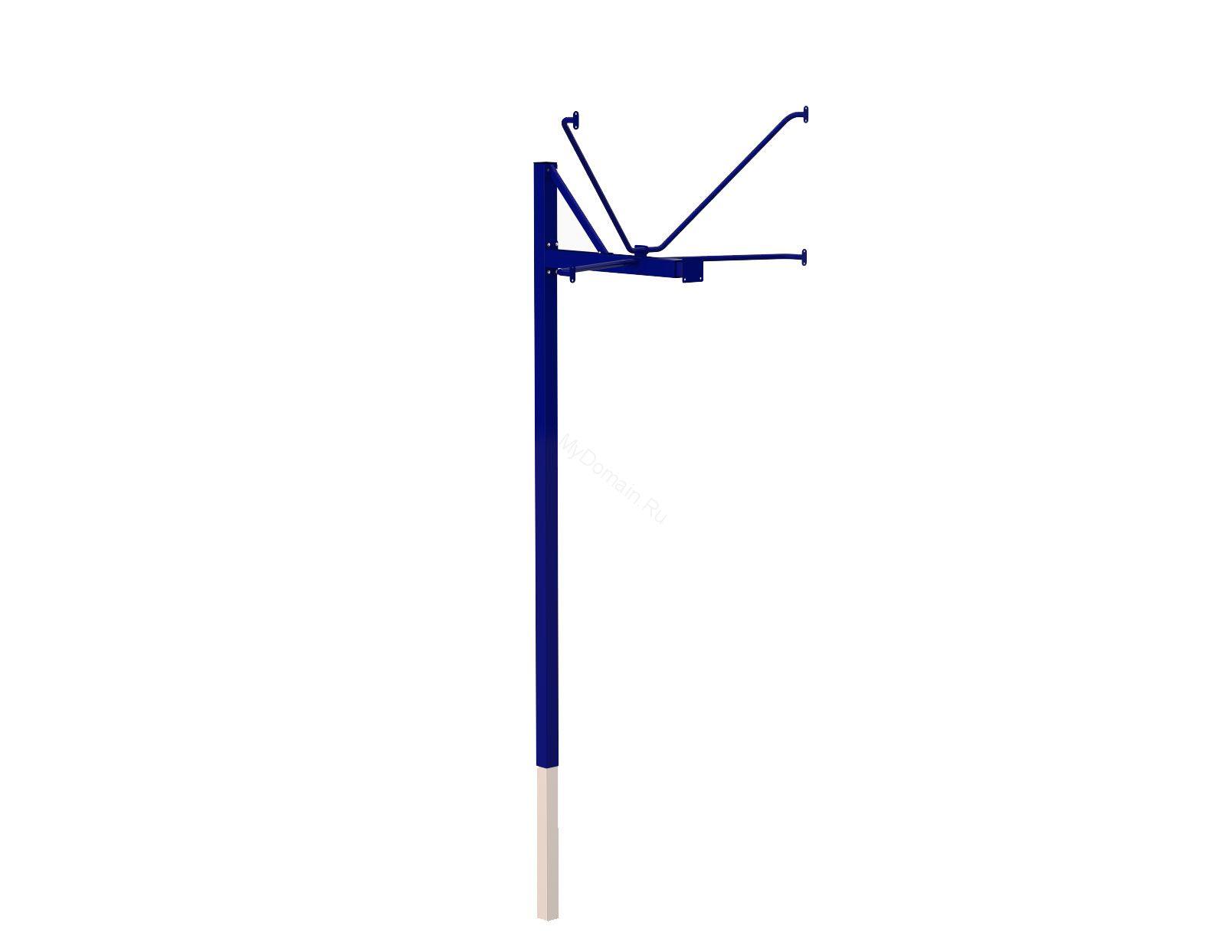 Стойка баскетбольная уличная одноопорная для тренировочного щита (900х1200 мм), вынос 1200 мм