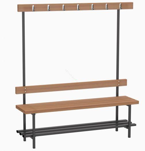 Скамья для раздевалок с вешалкой (односторонняя) 1,5 м