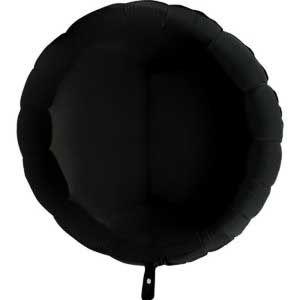 """Набор шаров """"Круг черный"""" (5 шт, 46 см)"""
