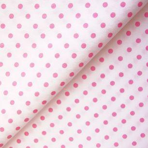 Ткань Хлопок Розовый горошек 50x40