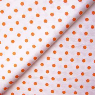 Ткань Хлопок Оранжевый горошек 50x40