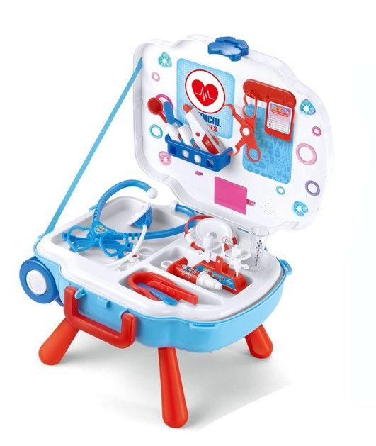 L666-24 игрушечный набор доктора в чемодане на колесах 3 в 1