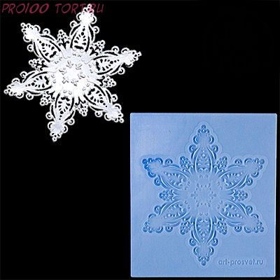 Молд силиконовый Снежинка