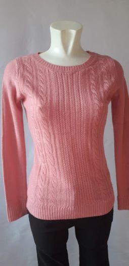 Пуловер женский, розовый