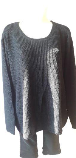 Пуловер женский, тёмно-синий