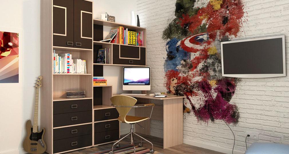 Компьютерный стол УРБАНИ + Шкаф документы