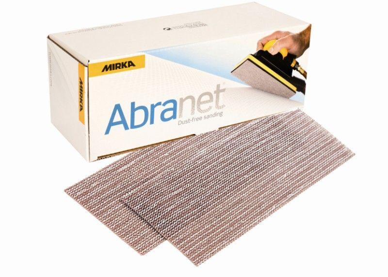 Mirka ABRANET. Полоска абразивная на сетчатой синтетической основе 115мм. x 230мм., Р320, в упаковке 50шт.