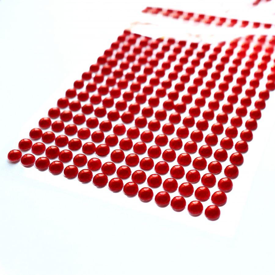 Акриловые полубусины, цвет Красный,  6 мм, ~500 шт/наб