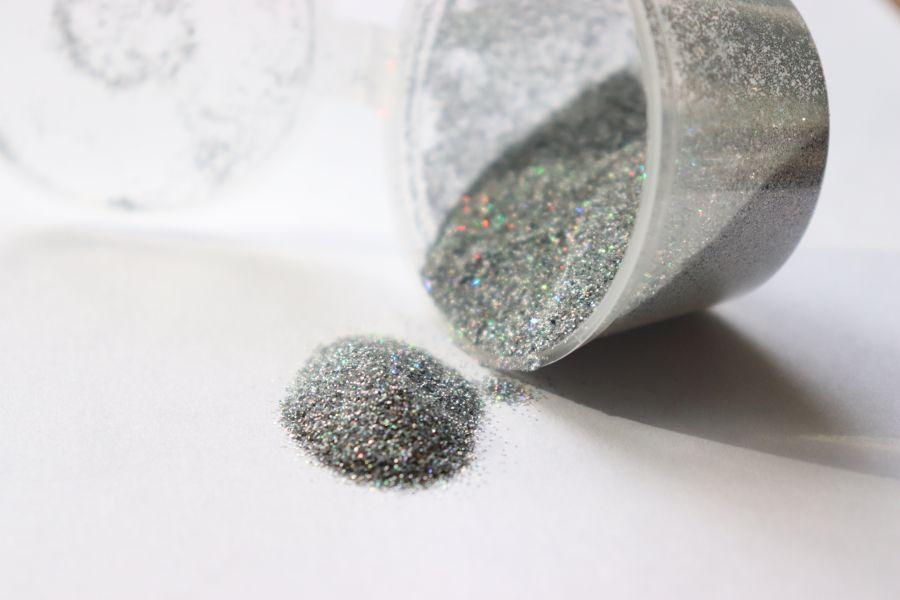 Глиттер серебряный, перламутр, 10 гр