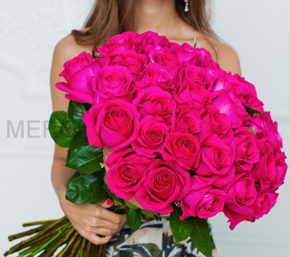Букет из роз 101 шт, Эквадор (розовые)