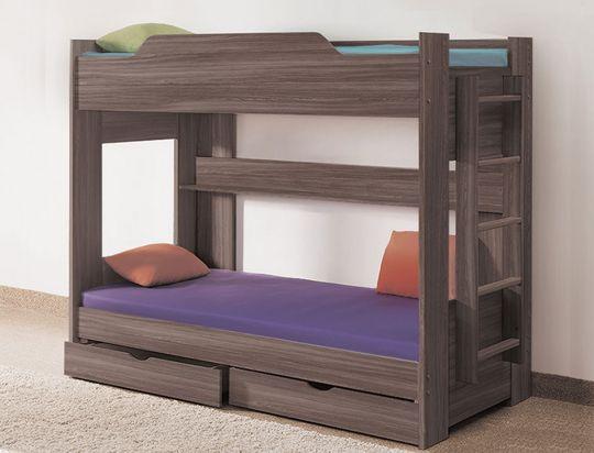 Детская двухъярусная кровать Боровичи с ящиками