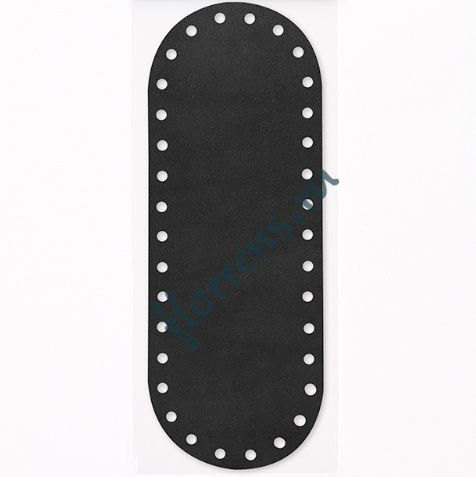 Кожаное дно для сумки / 26*9,5 см / черный