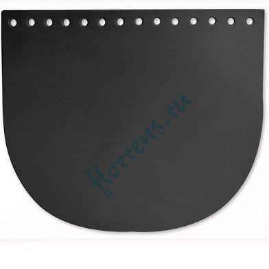 Клапан для сумки / 19,4*16,5 см / черный