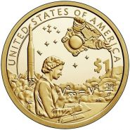 1 доллар США 2019 Сакагавея Индианка Мэри Голда Росс, Космос