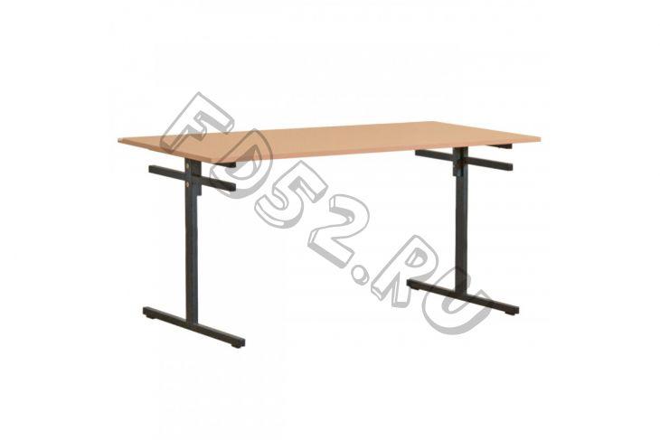 Стол 4-местный с подвеской для скамеек с пластиковым покрытием (гр. 5,6)
