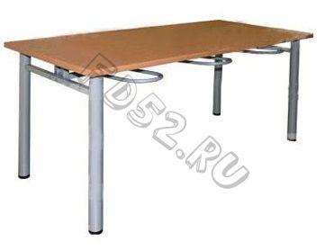 Стол обеденный шестиместный с универсальными кронштейнами 1500*700*730 с пластиковым покрытием