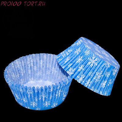 Форма бумажная Снежинка голубая   20 шт/уп.