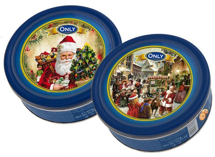 Печенье в жести сдобное рождественское ONLY 454 гр