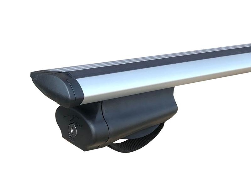 Багажная система на рейлинги Kia Mohave 2008-..., Lux Belt с крыловидными дугами (82 мм), с ремнем