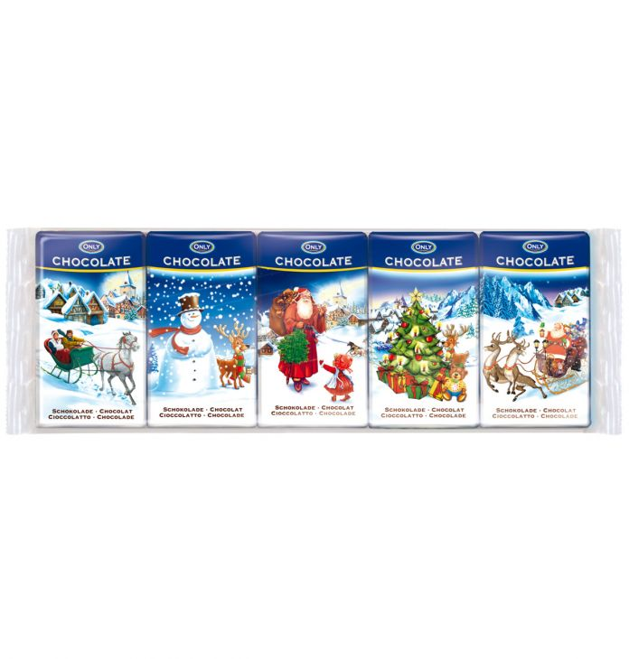 Молочный шоколад  Рождественский 5х15 гр
