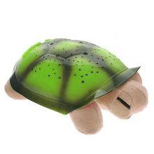 Ночник музыкальный проектор звездного неба Черепаха, Цвет: Коричневый, Панцирь: Зелёный