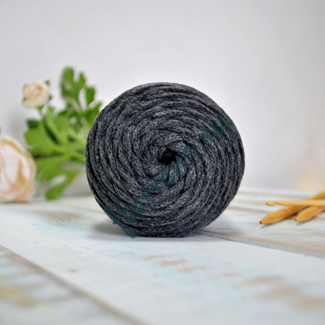 Шнур для вязания / т. серый