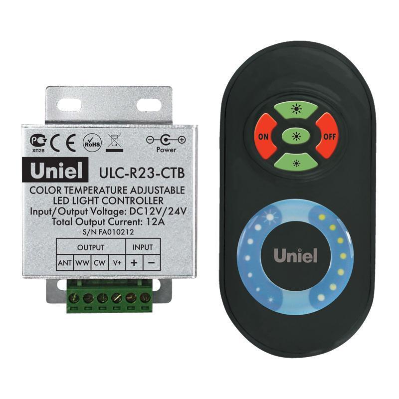 Контроллер для управления мультибелыми светодиодами с пультом ДУ (05950) ULC-R23-CTB Black