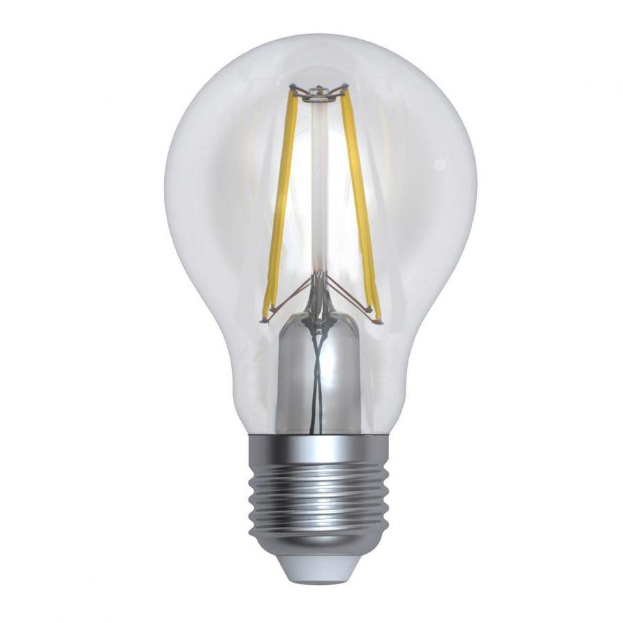 Лампа светодиодная диммируемая (UL-00005184) E27 12W 4000K прозрачная LED-A60-12W/4000K/E27/CL/DIM GLA01TR