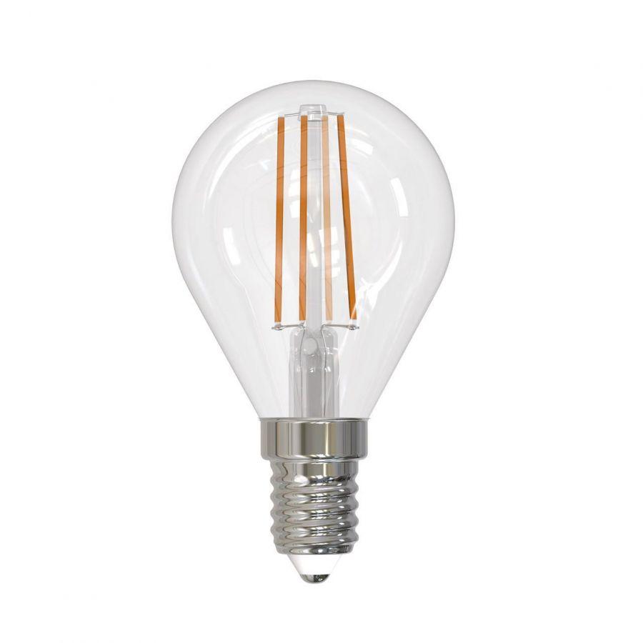 Лампа светодиодная диммируемая (UL-00005192) E14 9W 4000K прозрачная LED-G45-9W/4000K/E14/CL/DIM GLA01TR