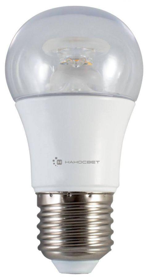 Лампа светодиодная Наносвет E27 7,5W 4000K прозрачная LC-P45CL-7.5/E27/840 L211