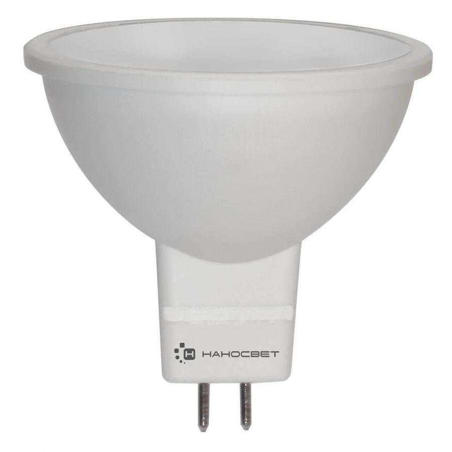 Лампа светодиодная Наносвет GU5.3 6W 2700K матовая LE-MR16A-6/GU5.3/827/12V L110