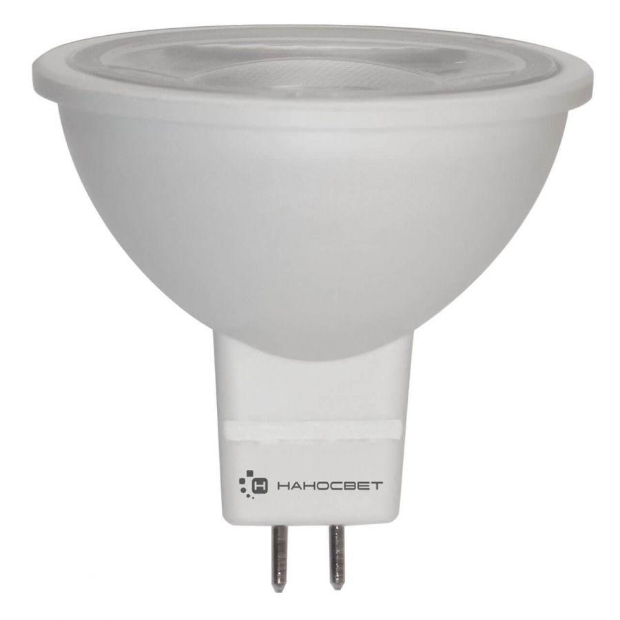 Лампа светодиодная Наносвет GU5.3 8,5W 2700K прозрачная LH-MR16-8.5/GU5.3/827/12V L284