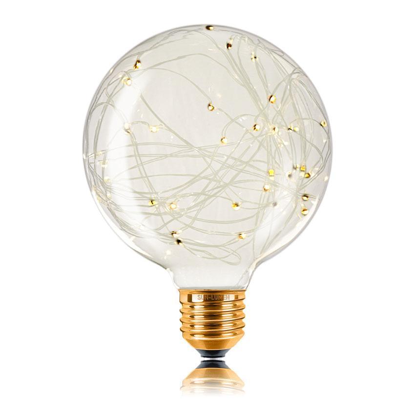 Лампа светодиодная филаментная E27 2W 2700K прозрачная 057066
