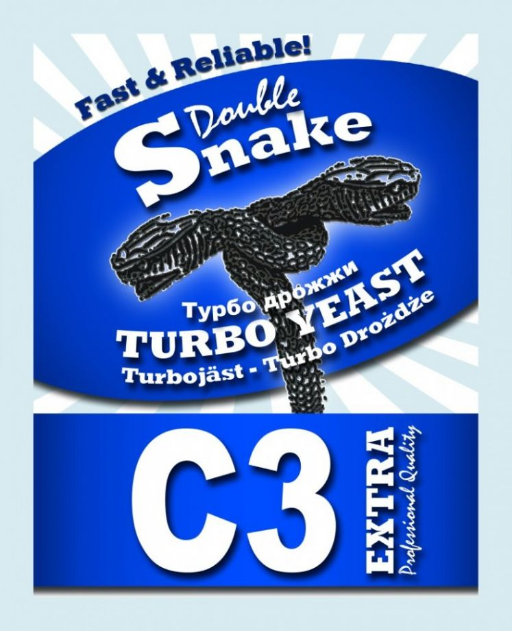 Дрожжи Double Snake C3 Turbo 90 гр