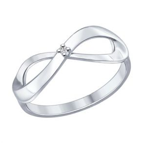 Кольцо из серебра с бриллиантом 87010012 SOKOLOV