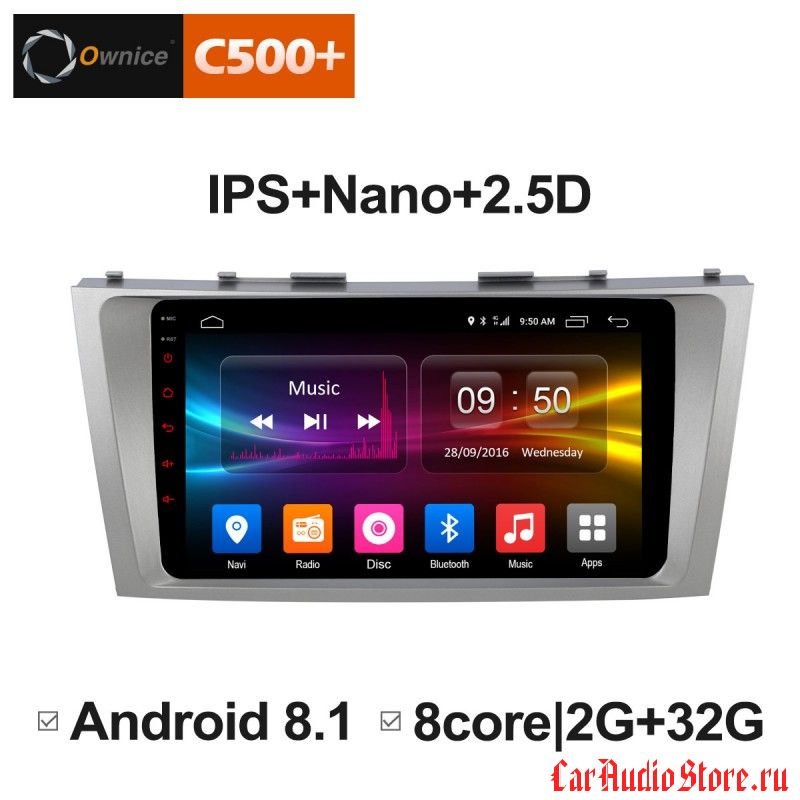 Ownice C500+ S9606P для Toyota Camry v40 (Android 6.0)