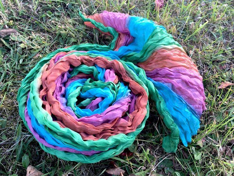 NEW Разноцветный шёлковый шарф (Москва)