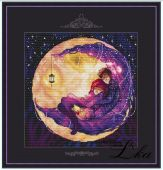 "Cross stitch pattern ""Warm night""."