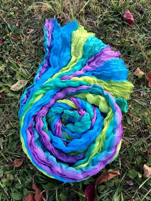 Разноцветный шёлковый шарф (Москва)