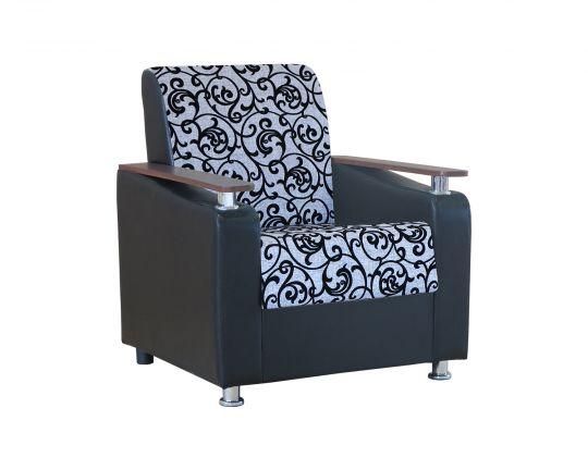 """Кресло для отдыха """"Мелодия ДП 1"""" шенилл серый узор"""