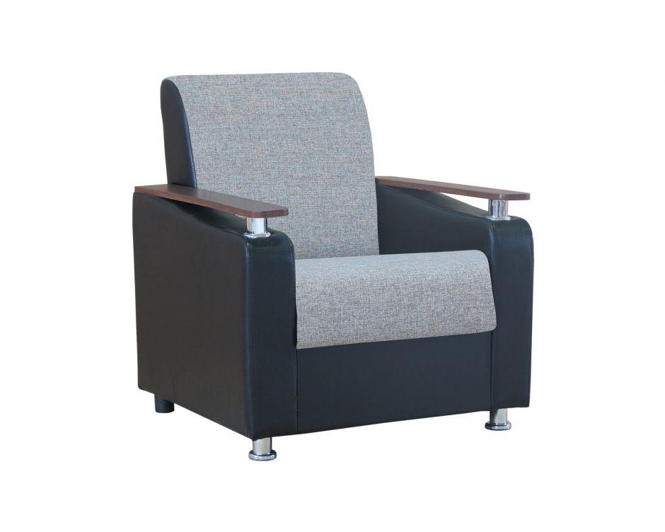 """Кресло для отдыха """"Мелодия ДП 1"""" шенилл серый"""
