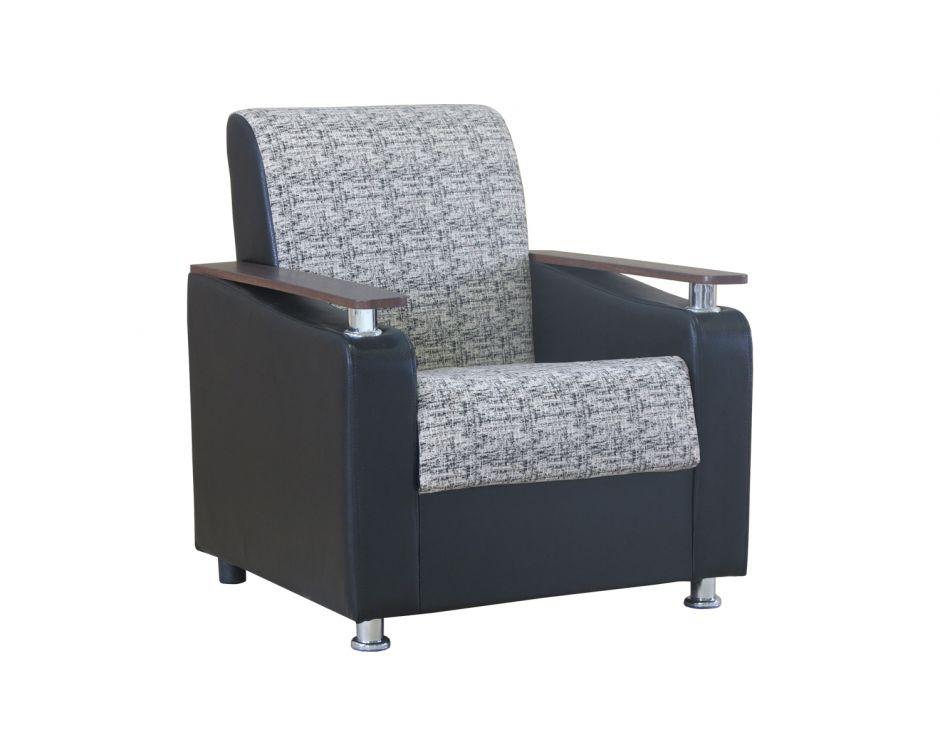 """Кресло для отдыха """"Мелодия ДП 1"""" велюр серый"""