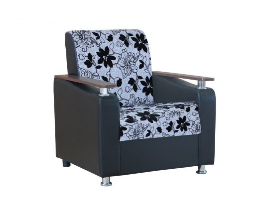 """Кресло для отдыха """"Мелодия ДП 1"""" шенилл серый цветы"""