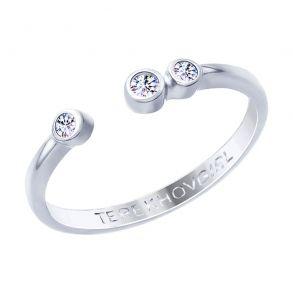 Кольцо из серебра с фианитами SOKOLOV x TerekhovGirl 94012652 SOKOLOV