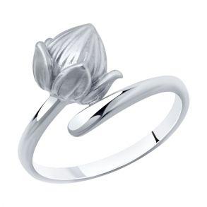 Кольцо из серебра с фианитами 94013092 SOKOLOV