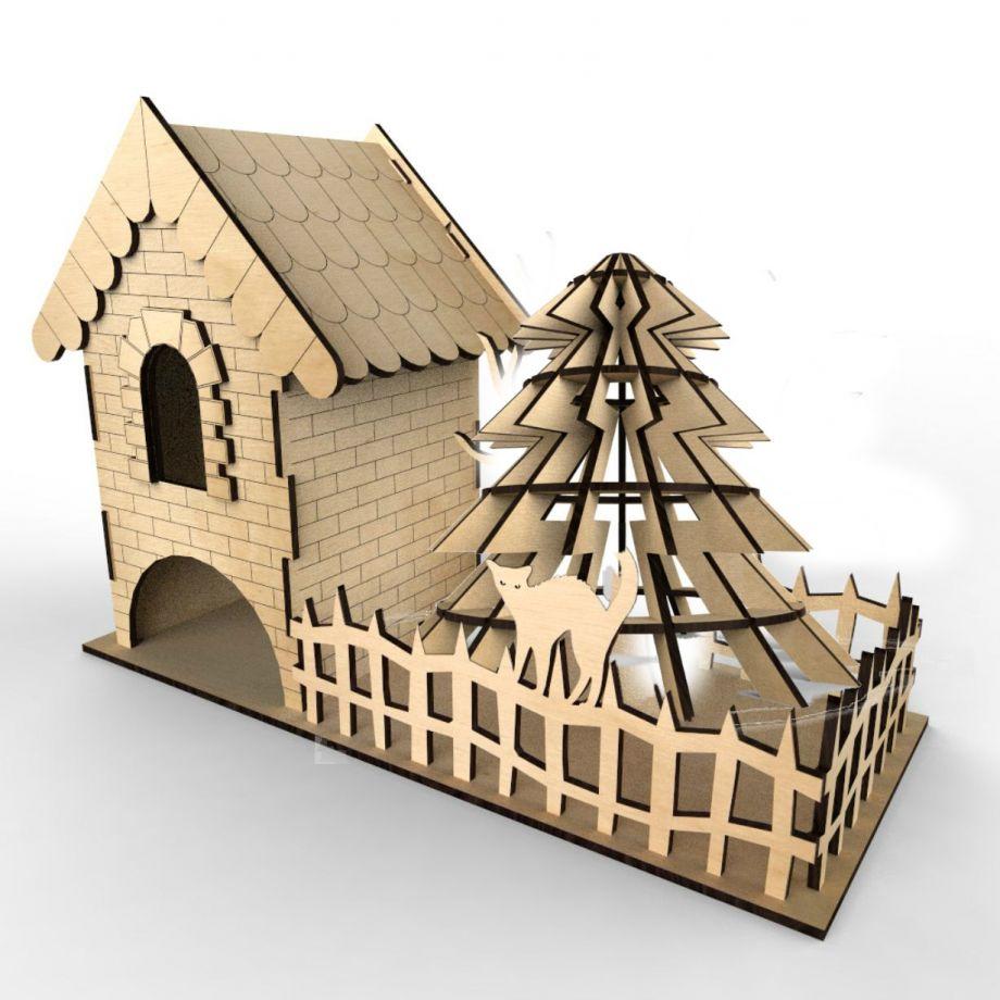 Чайный домик с деревом